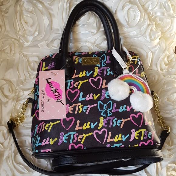 4172b93de868 🌈Luv Betsey rainbow crossbody bag NWT